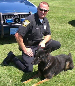 Retired K-9 Cole – handled by Ptl. Roycroft